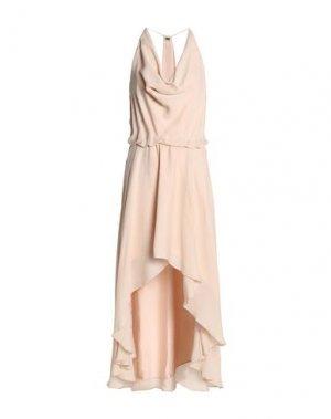 Платье длиной 3/4 HAUTE HIPPIE. Цвет: телесный