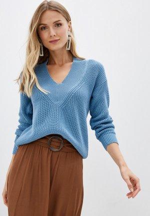 Пуловер Lezzarine. Цвет: голубой