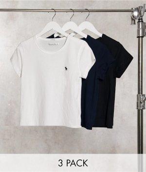 Набор из трех разноцветных футболок с круглым вырезом -Мульти Abercrombie & Fitch
