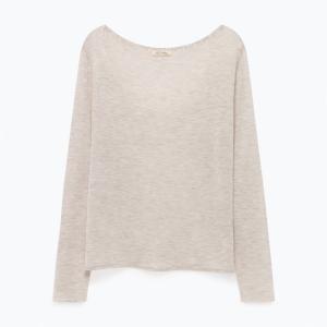 Пуловер с вырезом-лодочкой из тонкого трикотажа SPIKBOO AMERICAN VINTAGE. Цвет: коралловый,серый меланж