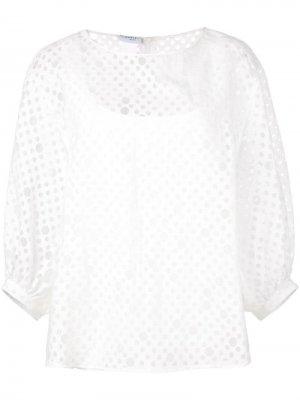 Блузка из органзы Akris Punto. Цвет: белый
