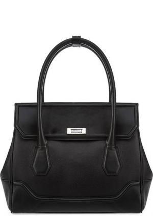Кожаная сумка через плечо с одним отделом Modalu London. Цвет: черный