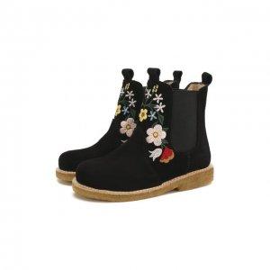 Кожаные ботинки Angulus. Цвет: чёрный