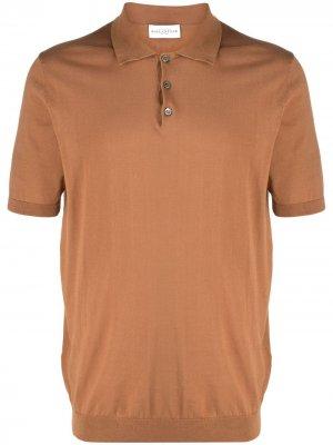 Рубашка поло с манжетами в рубчик Ballantyne. Цвет: коричневый