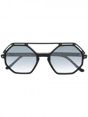 Солнцезащитные очки Cutler & Gross. Цвет: черный