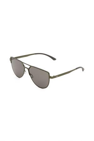 Очки солнцезащитные с линзами adidas. Цвет: 030 gls оливковый