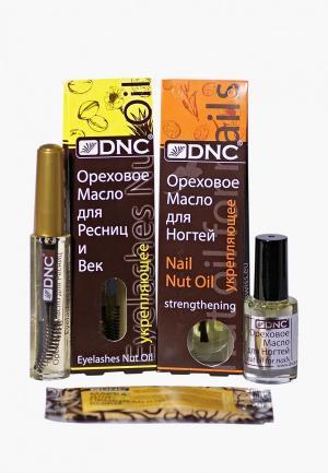 Набор для ухода за телом DNC Орех. масло ресниц 12 мл; ногтей 6мл + Маска лица 15 мл. Цвет: прозрачный