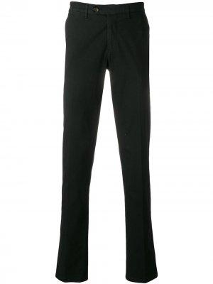Классические брюки чинос Canali. Цвет: черный