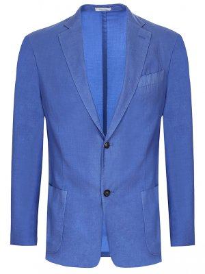 Пиджак кашемировый Colombo. Цвет: синий