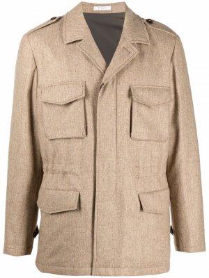 Шерстяная куртка с потайной застежкой Boglioli. Цвет: нейтральные цвета