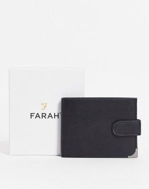 Черный бумажник двойного сложения -Черный цвет Farah