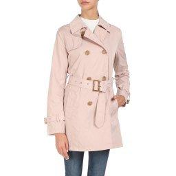 Пальто W0220F бежево-розовый GEOX