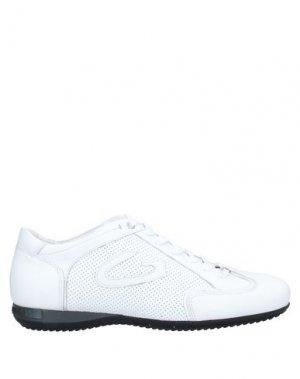 Низкие кеды и кроссовки ALBERTO GUARDIANI. Цвет: белый