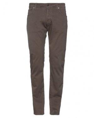 Повседневные брюки JACOB COHЁN. Цвет: коричневый