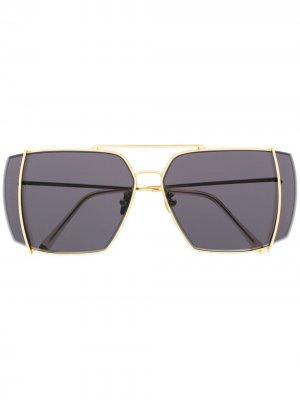 Солнцезащитные очки Teorema с логотипом Retrosuperfuture. Цвет: золотистый