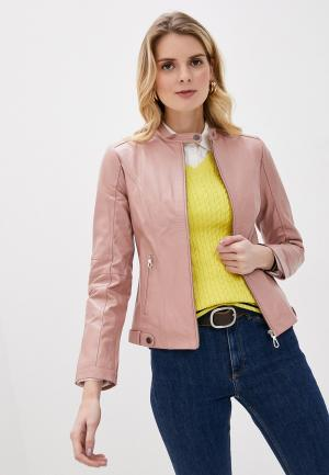 Куртка кожаная Giorgio Di Mare. Цвет: розовый