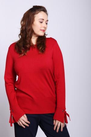 Пуловер Lebek. Цвет: красный