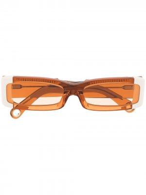 Солнцезащитные очки Les Lunettes 97 Jacquemus. Цвет: оранжевый