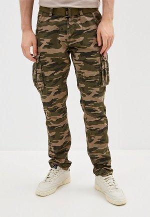 Брюки Indicode Jeans. Цвет: хаки
