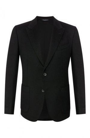 Кашемировый пиджак Dolce & Gabbana. Цвет: чёрный