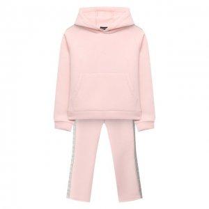 Комплект из свитшота и брюк Emporio Armani. Цвет: розовый