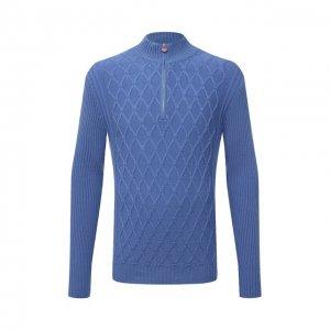 Кашемировый свитер Kiton. Цвет: голубой