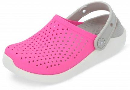 Шлепанцы для девочек Literide Clog K, размер 31-32 Crocs. Цвет: розовый