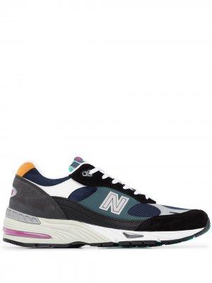 Кроссовки на шнуровке New Balance. Цвет: синий