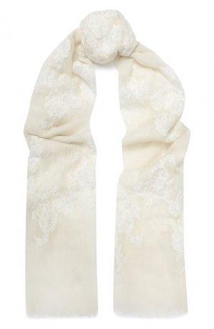 Кашемировая шаль Vintage Shades. Цвет: белый