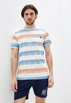 Футболка Indicode Jeans. Цвет: разноцветный