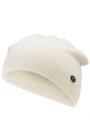 Вязаная шапка из шерсти CANADIENS. Цвет: белый
