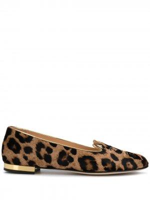 Балетки с леопардовым принтом Charlotte Olympia. Цвет: нейтральные цвета