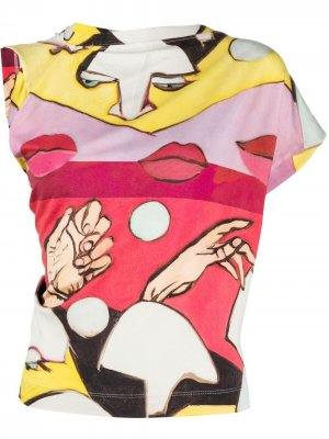 Футболка с абстрактным узором Vivienne Westwood. Цвет: красный