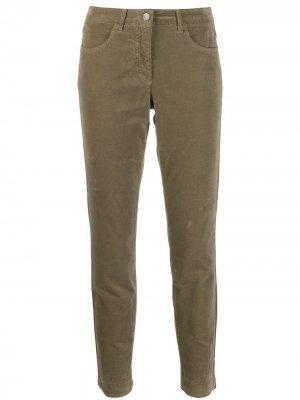 Зауженные брюки Luisa Cerano. Цвет: зеленый