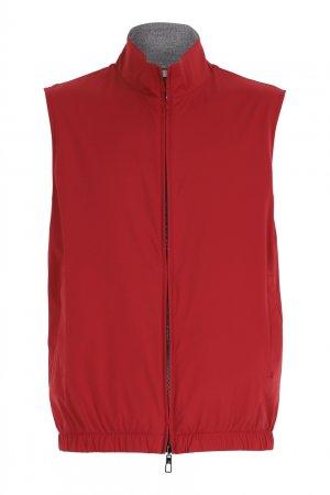 Красный жилет на молнии Loro Piana. Цвет: красный
