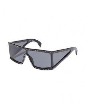 Солнечные очки MOSCHINO. Цвет: черный