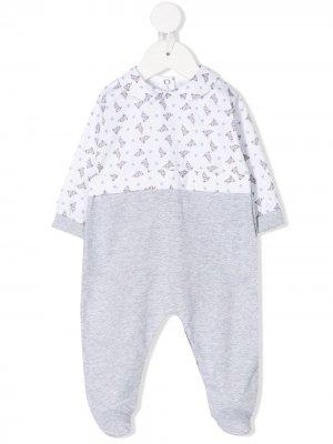 Пижама с принтом Siola. Цвет: серый