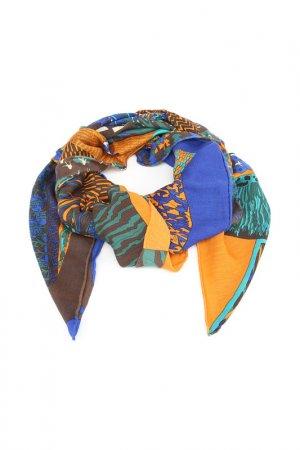 Платок F.FRANTELLI. Цвет: синий,оранжевый,бирюзовый