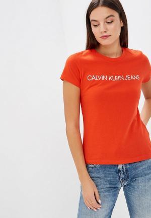 Футболка Calvin Klein Jeans CA939EWBTJT7. Цвет: черный