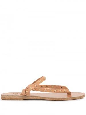 - Для нее Ancient Greek Sandals. Цвет: коричневый
