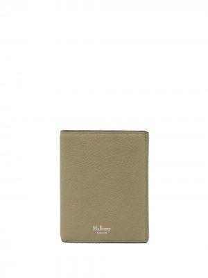 Бумажник из зернистой кожи Mulberry. Цвет: зеленый