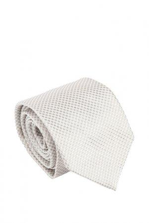 Галстук Ascot. Цвет: белый, серый, мелкий ромб