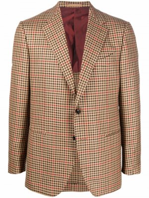 Пиджак в клетку Caruso. Цвет: нейтральные цвета