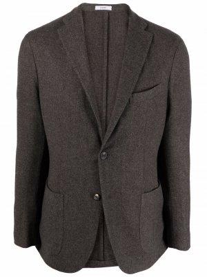 Однобортный пиджак K-Jacket Boglioli. Цвет: серый