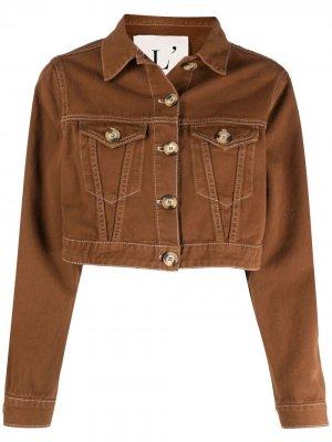 LAutre Chose укороченная джинсовая куртка L'Autre. Цвет: коричневый