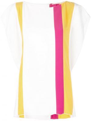 Блузка в полоску Carolina Herrera. Цвет: желтый