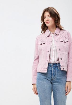 Куртка джинсовая Zarina. Цвет: розовый