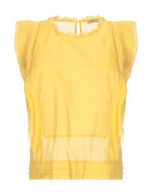 Блузка CAPPELLINI by PESERICO. Цвет: желтый