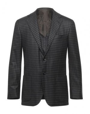 Пиджак KITON. Цвет: темно-коричневый