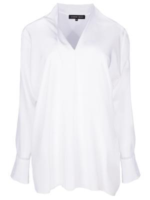 Шелковая блуза TEREKHOV. Цвет: белый
